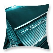 Classic '57 Teal And Chrome Throw Pillow