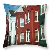Classic American Architecture In Washington Dc Throw Pillow
