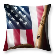 Classic Americana Throw Pillow by Bill Wakeley