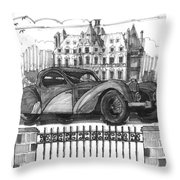 Classic Auto With Chateau Throw Pillow