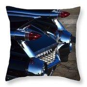 Classic Black Cadillac Throw Pillow