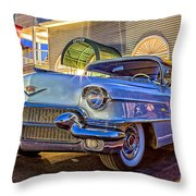 Classic Blue Caddy At Night Throw Pillow