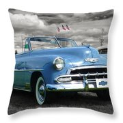 Classic Blue Chevy Throw Pillow