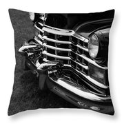 Classic Cadillac Sedan Black And White Throw Pillow