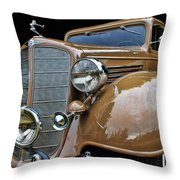 Classic Car - 1935 Buick Victoria Throw Pillow