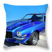 Classic Car 1973 Camaro 1 Throw Pillow
