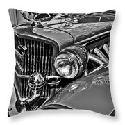 Classic Car Detail Throw Pillow