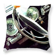 Classic Car Odometer Throw Pillow
