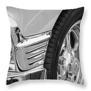 Classic Car Reflections - Training Wheels -179bw Throw Pillow