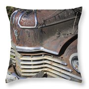 Classic Car With Rust Throw Pillow