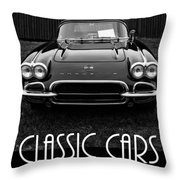 Classic Cars Front Cover Throw Pillow