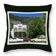 Classic Cars In Genoa Throw Pillow