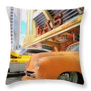 Classic Car's Of Las Vegas Throw Pillow