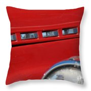 Classic Chevy Design Throw Pillow