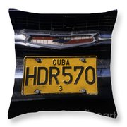 Classic Chevy In Cuba Throw Pillow