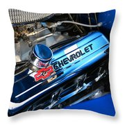 Classic Chevy Power Plant Throw Pillow
