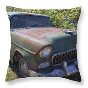 Classic Chevy With Rust Throw Pillow