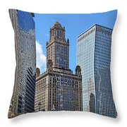 Classic Chicago -  The Jewelers Building Throw Pillow