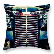 Classic Chrome Grill Throw Pillow