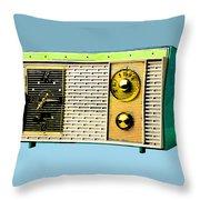 Classic Clock Radio Throw Pillow