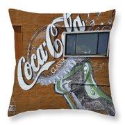 Classic Coca-cola Throw Pillow