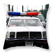 Classic Cop Car Throw Pillow