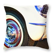 Classic Corvette Palm Springs Throw Pillow