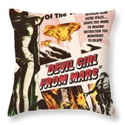 Classic Devil Girl From Mars Poster Throw Pillow