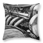 Classic Engine - Classic Cars At The Concours D Elegance. Throw Pillow