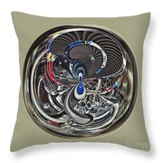 Classic Engine Orb Abstract Throw Pillow