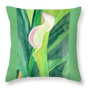 Classic Flower Throw Pillow