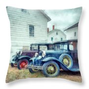 Classic Ford Model A Cars Throw Pillow