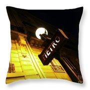 Classic French Metro Light Throw Pillow