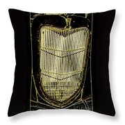 Classic Gold Grill Throw Pillow