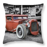 Classic Hot Rod Throw Pillow