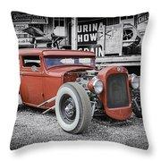 Classic Hot Rod Throw Pillow
