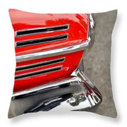 Classic Impala In Red Throw Pillow