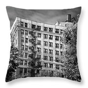 Classic Iron Fire Escape Chicago Il Throw Pillow by Christine Till