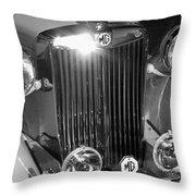 Classic Mg Roadster Motor Car Throw Pillow
