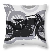 Classic Motorcycle  Throw Pillow by Daniel Hagerman