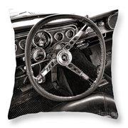 Classic Mustang Throw Pillow