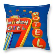 Classic Old Neon Signs Throw Pillow