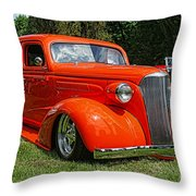 Classic Orange Throw Pillow