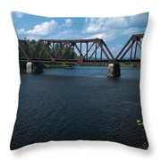 Classic Rail Bridge Throw Pillow