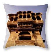 A Rajasthan Haveli Throw Pillow