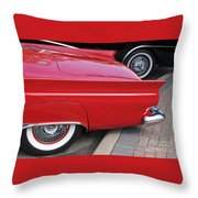Classic Red And Black Throw Pillow