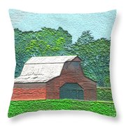 Classic Red Barn Throw Pillow