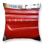 Classic Red Comet Throw Pillow