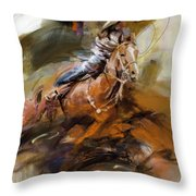 Classic Rodeo 6b Throw Pillow