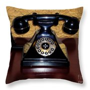 Classic Rotary Dial Telephone Throw Pillow